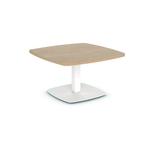 table basse carrée pieds métal plateau mélaminé