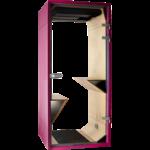 phonebox sobre et design rose