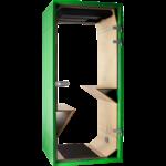 phonebox sobre et design verte