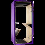 phonebox sobre et design violette