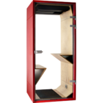 phonebox sobre et design rouge