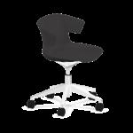 chaise de réunion noire à roulettes