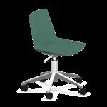 chaise de réunion vert boisà roulettes