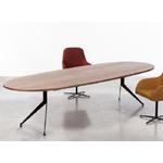 table de réunion ovale pieds discret métal