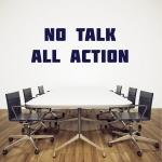 """Lettres adhésives """"No talk All action"""" pour bureau"""