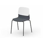 """Chaise design tapissée """"Klik"""" (lot de 3 ou 4 chaises)"""