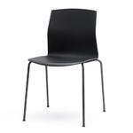 chaise sobre et design noire