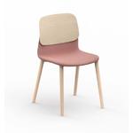 chaise design tapissée pieds bois klik