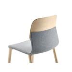 chaise design tapissée en bois dos klik