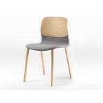 chaise design tapissée en bois klik
