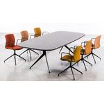table de réunion design pied discret en métal