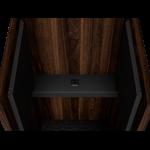 tablette cabine acoustique noyer