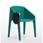 chaise de conférence design et pliable turquoise