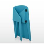 chaise de conférence bleu pliable