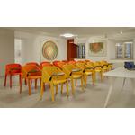 Chaise de conférence tapissée design avec tablette