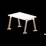 bureau individuel pieds A en bois