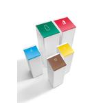 conteneur de recyclage coloré avec logo