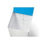 poubelle de tri bleu