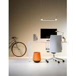 Corbeille design orange pour bureau