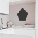 Stickers ardoise Cupcake pour cuisine d'entreprise