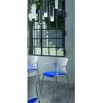 chaise conférence split blanche tapissée avec accoudoirs