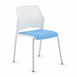 chaise conférence split blanc tapissée