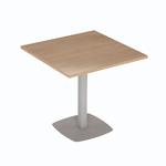 table de cafétéria carrée pied métal