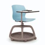chaise de conférence à roulettes avec tablette