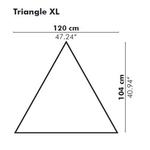 Dimension panneau acoustique triangle