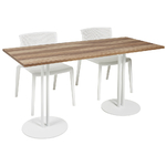grande table haute cafétéria plateau mélaminé