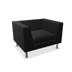 fauteuil lounge noir