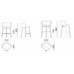 Dimensions chaise haute 4 pieds