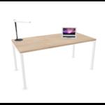 bureau individuel pied blanc plateau chêne