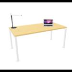 bureau individuel pied blanc plateau clait