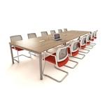 table de réunion 8 à 20 personnes avec top access