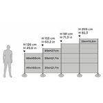 dimensions panneau sur pieds