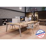 Bureau-bench-4-personnes-partage