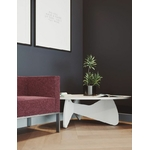 table basse galet blanc