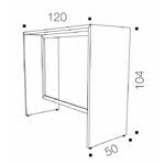 Dimensions table haute rectangulaire