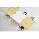 chaise de réunion Yumi avec piétement en bois