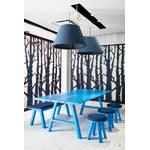 table de réunion rectangulaire en bois bleu