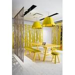 table de réunion rectangulaire en bois jaune