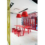 table de réunion rectangulaire en bois rouge