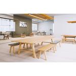 table de réunion rectangulaire en bois
