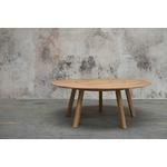 table de réunion ronde design en bois
