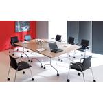 table pliable avec roulettes pour bureau