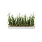 jardinière basse herbes artificielles