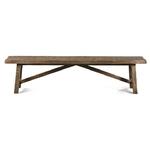 banc design rustique en bois