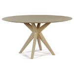 table de réunion ronde en bois pietement croix