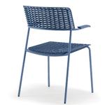 chaise de réunion bleu design avec accoudoirs